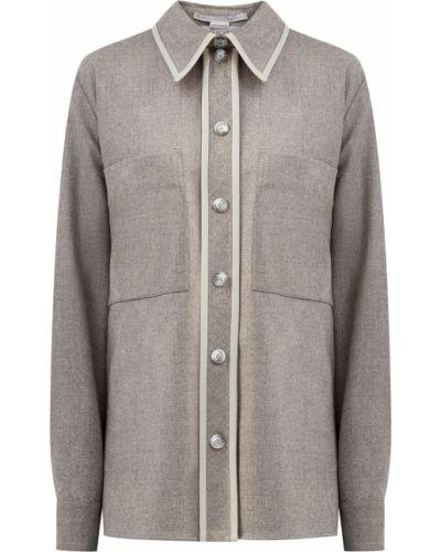 Серая фланелевая рубашка с воротником Stella Mccartney