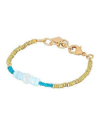 Niebieska złota bransoletka z koralikami Dannijo