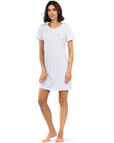 Biała piżama bawełniana krótki rękaw Lorin