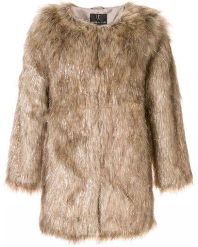 Коричневая шуба из искусственного меха Unreal Fur
