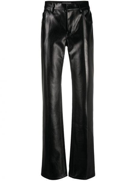 Черные прямые брюки с накладными карманами с высокой посадкой Philosophy Di Lorenzo Serafini