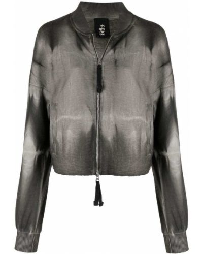 Ватная черная длинная куртка с воротником Thom Krom