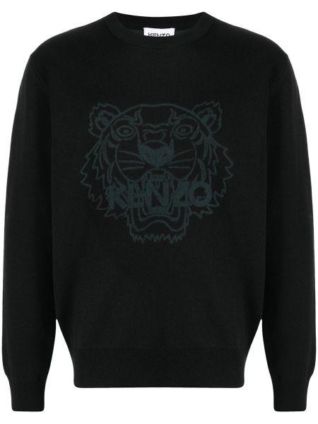 Czarny z rękawami bawełna bluza z mankietami Kenzo