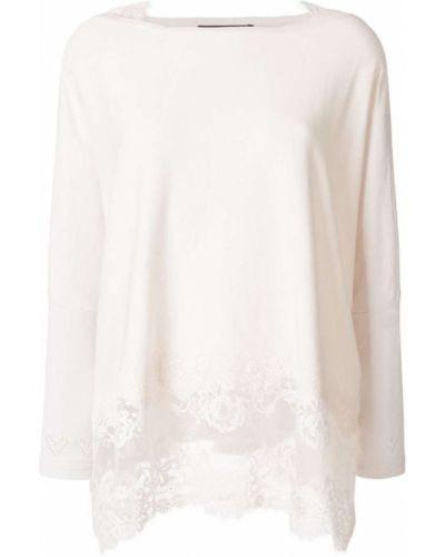 Бежевая кружевная блузка Twin-set