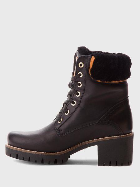 Ботинки на шнуровке - черные Panama Jack