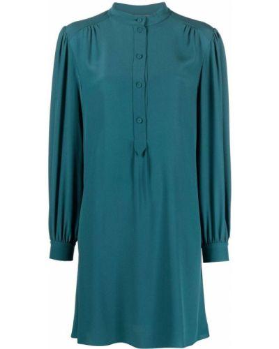Шелковое платье - зеленое Alberta Ferretti