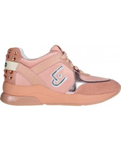 Кроссовки замшевые розовый Liu Jo