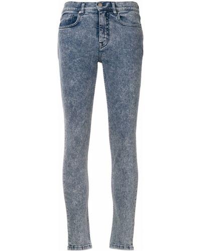 Джинсы-скинни синие на пуговицах Victoria, Victoria Beckham