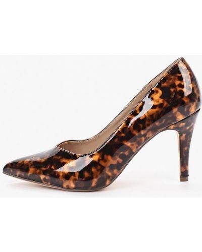 Туфли-лодочки на каблуке кожаные Dorothy Perkins