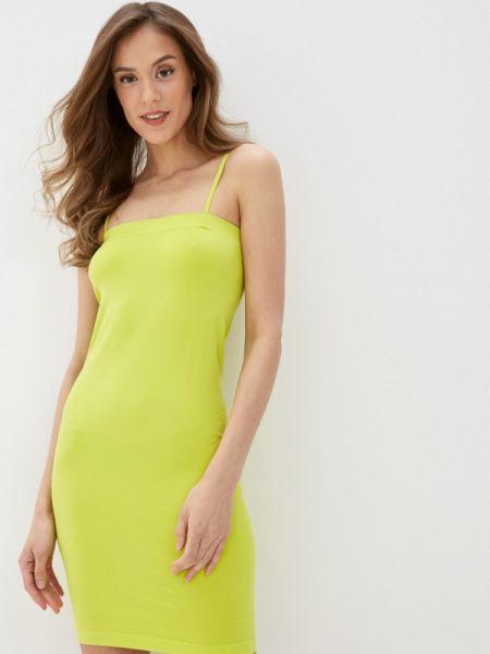 Платье футляр желтый Noisy May