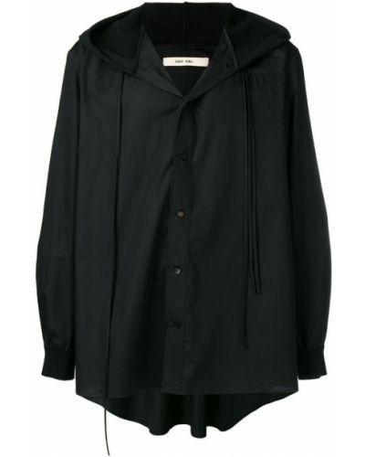 Свободная черная рубашка на пуговицах Damir Doma