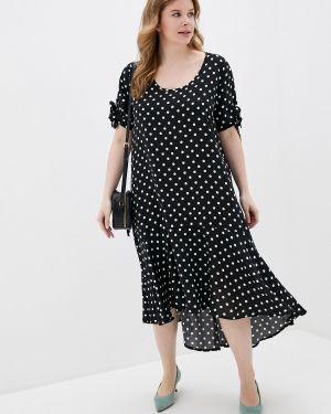 Пляжное платье черное весеннее Ulla Popken