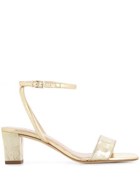 Złote sandały Sandro Paris