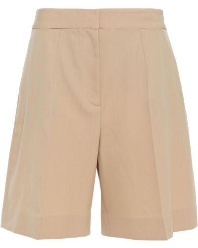 Шерстяные бежевые шорты с карманами Victoria Victoria Beckham