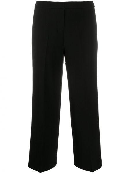Свободные черные укороченные брюки с карманами Theory