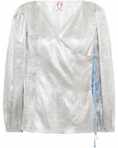 Серебряная блузка из вискозы с манжетами Shrimps