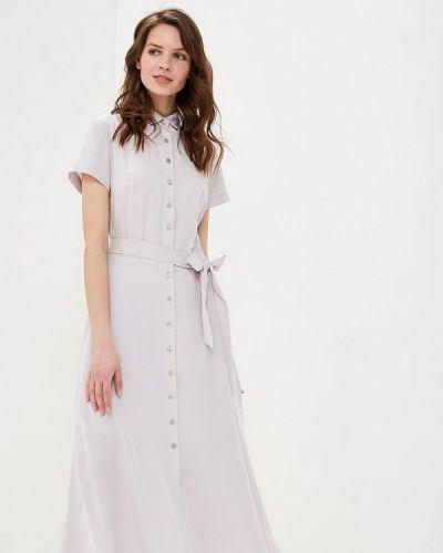 Платье серое платье-рубашка Solou