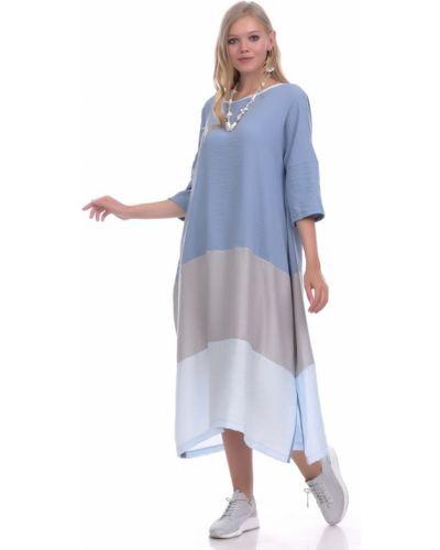 Свободное платье в стиле бохо свободного кроя из вискозы Lautus
