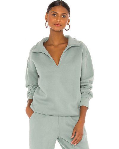 Zielony bawełna włókienniczy bluza z dekoltem Atoir