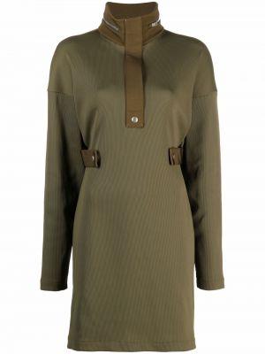 Sukienka długa z długimi rękawami - zielona Givenchy