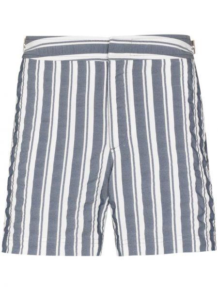 Хлопковые белые шорты для плаванья с нашивками Orlebar Brown