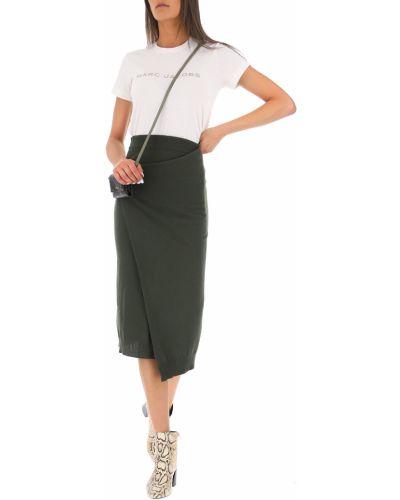 Zielona spódnica wełniana prążkowana Kenzo