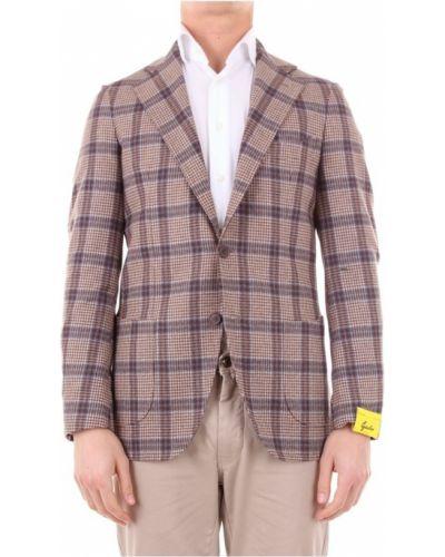 Długa kurtka wełniana z długimi rękawami Gabo