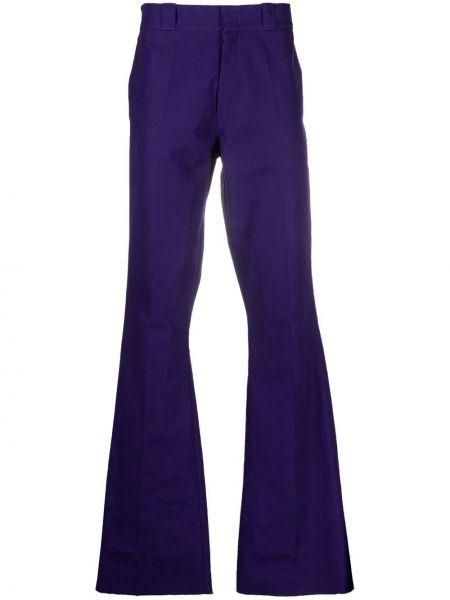 Fioletowe spodnie z paskiem bawełniane Raf Simons