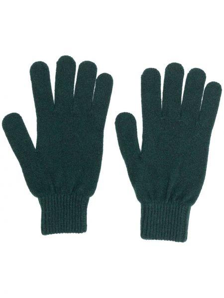 Шерстяные вязаные перчатки с вышивкой Paul Smith