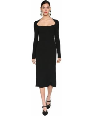 Платье со складками на молнии Dolce & Gabbana