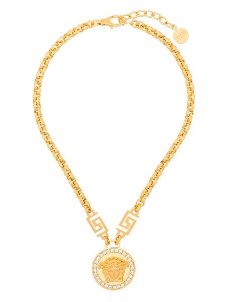 Золотистое ожерелье золотое Versace