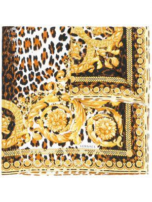 Желтый шарф Versace