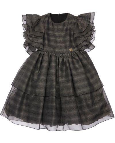 Платье из фатина - черное Elie Saab
