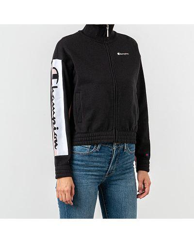 Черная куртка Champion