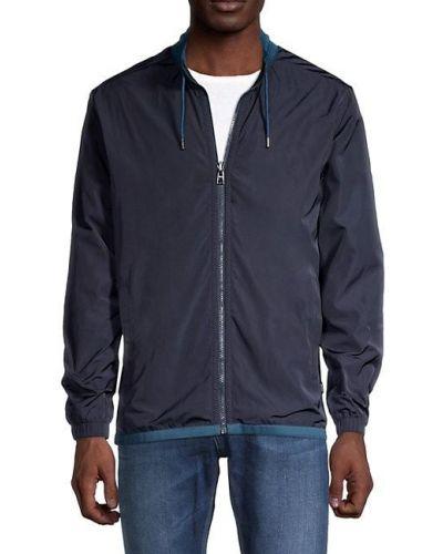 Хлопковая ватная длинная куртка с воротником Boss Hugo Boss