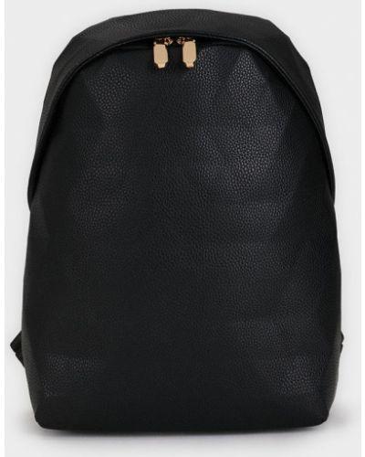Кожаный рюкзак черный однотонный Parfois