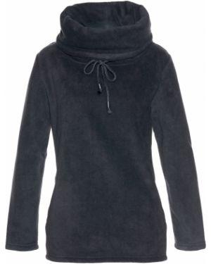 Пуловер с воротником-стойкой флисовый Bonprix