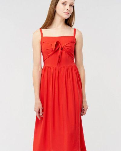 Платье миди весеннее красный Mascot