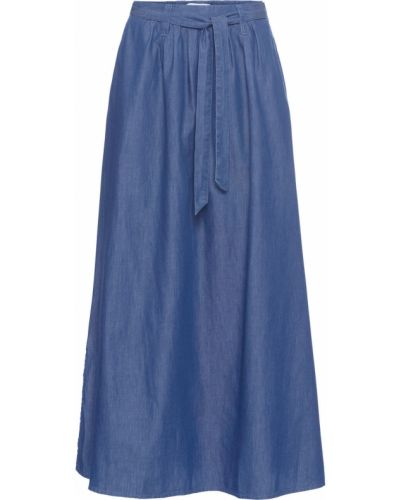 Ажурная синяя юбка макси Bonprix