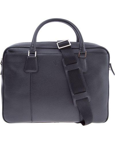 Кожаная сумка с отделениями с логотипом Canali