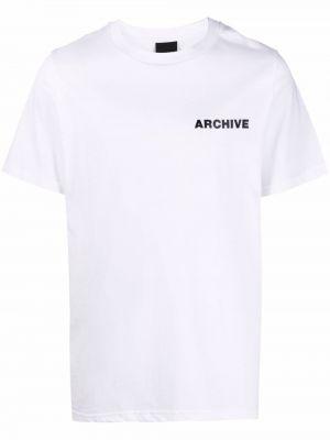 Biały t-shirt bawełniany krótki rękaw Omc