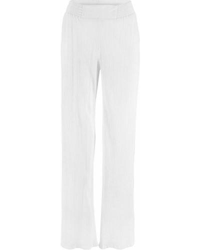 Свободные брюки белые из крепа Bonprix