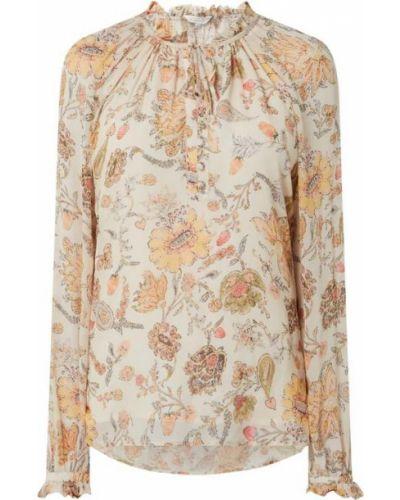 Beżowa bluzka z falbanami z wiskozy Frogbox