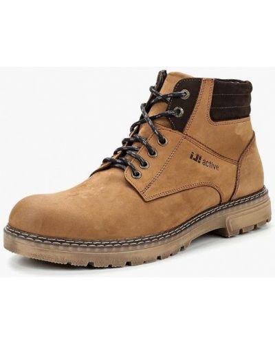 Ботинки осенние из нубука коричневый Id! Collection