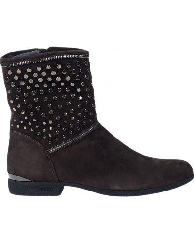 Ботинки на каблуке осенние замшевые Loriblu