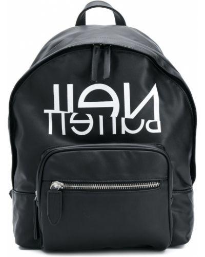 Рюкзак черный с логотипом Neil Barrett Kids
