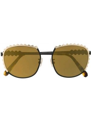 Złote czarne okulary Philipp Plein