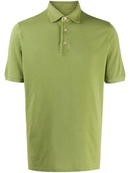 Koszula krótkie z krótkim rękawem klasyczna zielona Fedeli