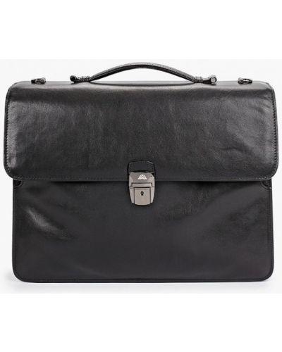 Черный кожаный портфель Tony Perotti