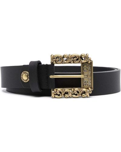 Czarny złoty pasek Versace Jeans Couture